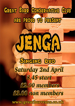 Jenga @ Great Barr Conservative Club - April 2016