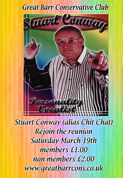 Stuart Conway @ Great Barr Conservative Club - March 19th 2016